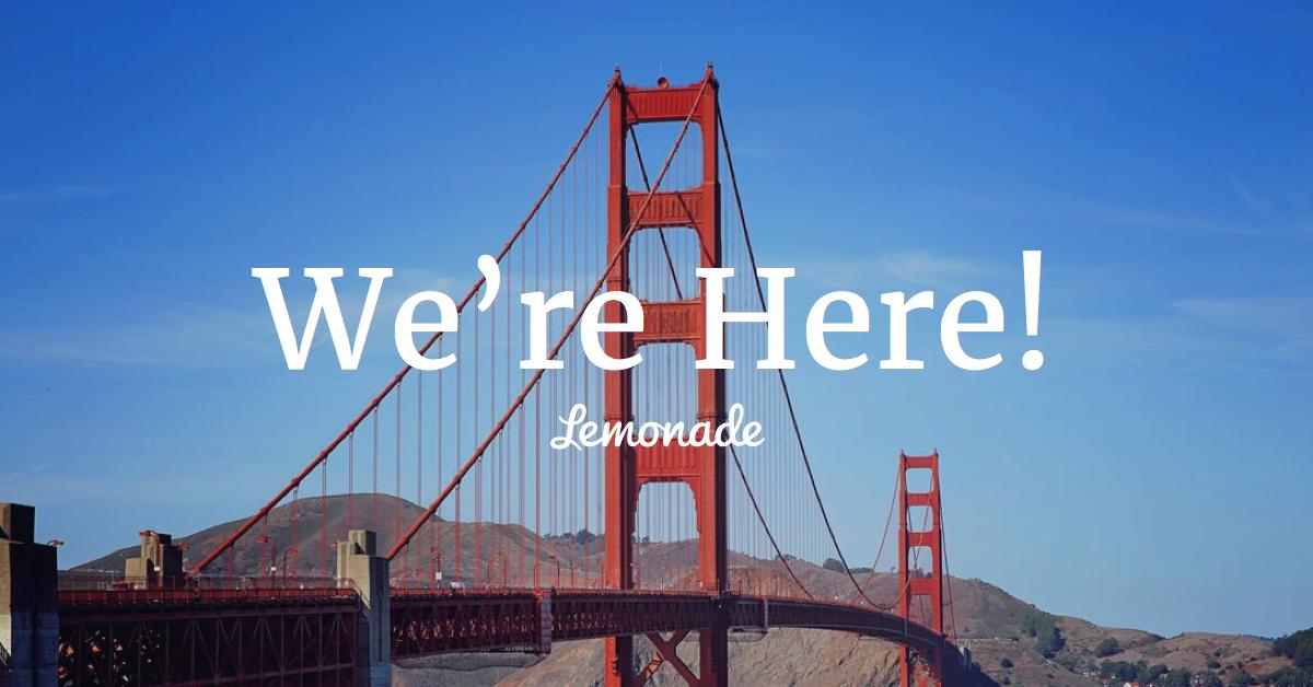 קליפורניה, אנחנו כאן.